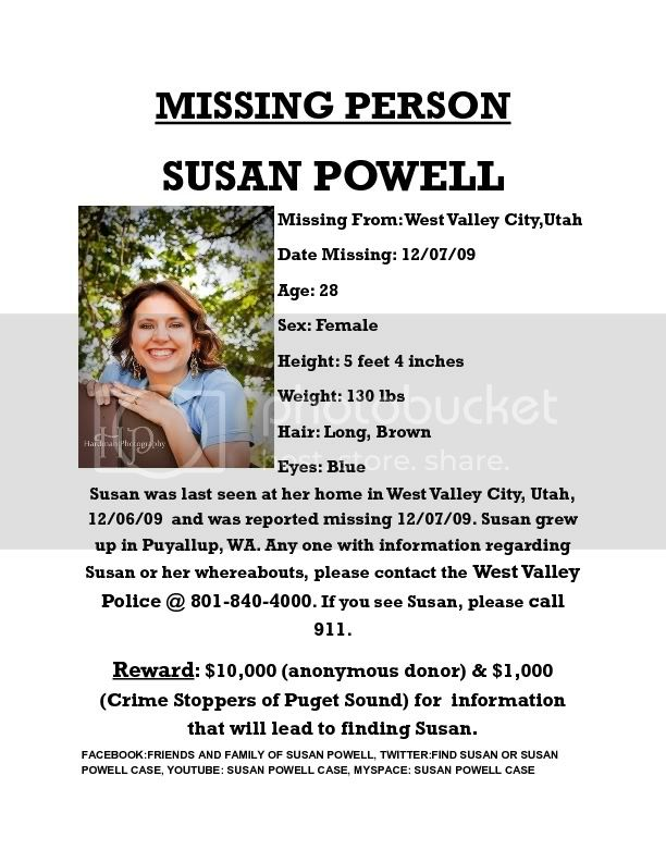 Susan Powell,Missing,Washington,Utah,Crime,Cox